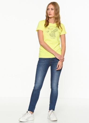 Lee Cooper Baskılı T-Shirt Sarı